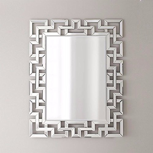 Furniturebox UK Venetian Large Silver Wall Rectangular Living Room Hallway Bathroom Bedroom Mirror FurnitureboxUK