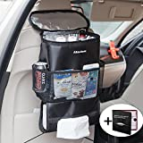 Almatess Upgraded Version Car Seat Back Organizer, Multi-Pocket Travel Storage Bag(Heat/Cool-Preservation)