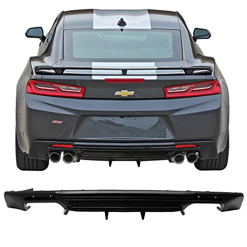 Rear Bumper Lip Diffuser Fits 2016-2019 Chevy Camaro | Matte Black Rear Bumper Lower Body Protection Avoid Against Collision by IKON MOTORSPORTS | 2017 2018