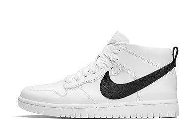 NIKE Men's Dunk Lux Chukka RT Shoes White Black 910088 101 Size 9