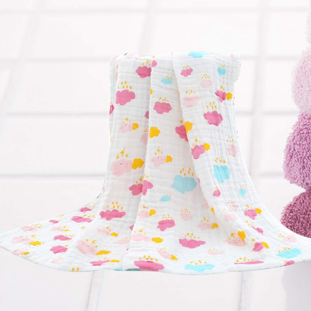 OUNONA - Mantas de Gasa para bebé recién Nacido, Suaves Toallas de baño de algodón Estampado Verano Mantas para niños y niñas (Color nubles): Amazon.es: ...