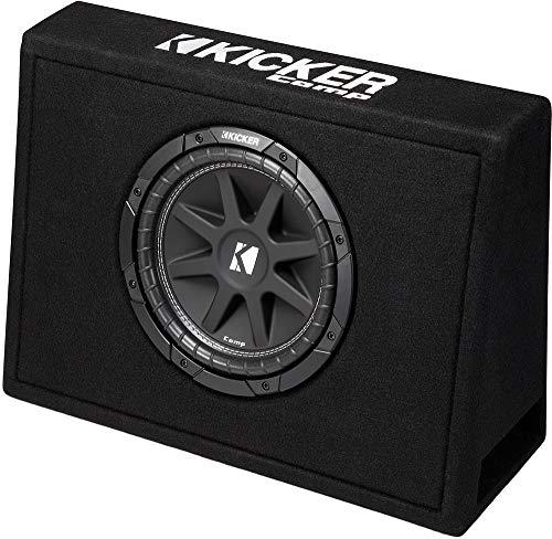 Comp Single - Kicker Single 10-Inch Comp 4 Ohm 150W Loaded Subwoofer Enclosure Box | 43TC104