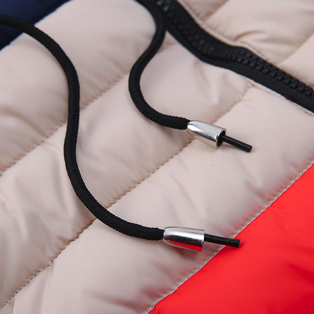 Kehen Kids Little Girl Boy Autumn Winter Hooded Trench Coat Toddler Warm Zipper Down Jacket Outerwear
