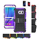 Galaxy S7 Edge Case, HLCT Rugged Shock Proof Dual-Layer Case with Built-In Kickstand for Samsung Galaxy S7 Edge (2016) (Purple)