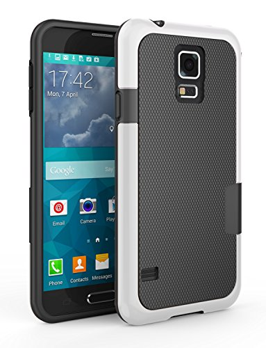 Samsung Galaxy S5 Case, Zectoo Ultra Slim 3 Color Hybrid Impact Anti-Slip Shockproof Soft TPU Hard PC Bumper Extra Front Raised Lip Case Cover for Samsung Galaxy S5 I9600 GS5 G900V - Black