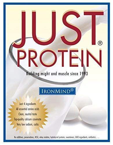Just Protein - Classic Milk and Egg Supplement Powder, Vanilla, 5 lb. Bag by IronMind
