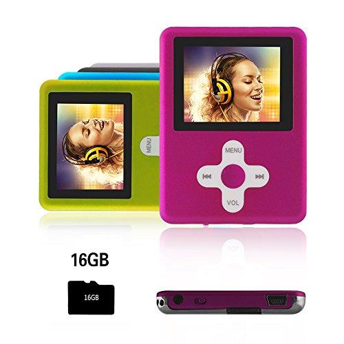 Btopllc MP3 / MP4 Player Musik-Player / Video Player Media Player 16 GB Mini-USB-Anschluss wiederaufladbar Schlankes klassisches Digital LCD MP3 / MP4 Medienplayer / Audio / Multimedia-Spieler - Rosa