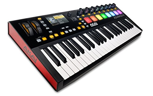 Akai Professional Advance 49 | 49-Key Virtual Instrument Production Controller with Full-Color LCD Screen & 10K Sounds Download ()