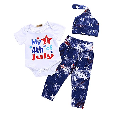 Girls My First 4th of July Independence Day Outfit Set 0-3 Months ()