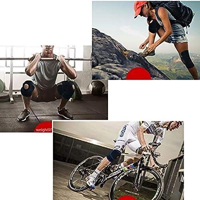 WYQWAN Aparato para La Rodilla, Soporte Ajustable, Estabilizador De Rótula Abierta, Antialérgico - Alivio del Dolor Artrítico,Black: Amazon.es: Deportes y aire libre