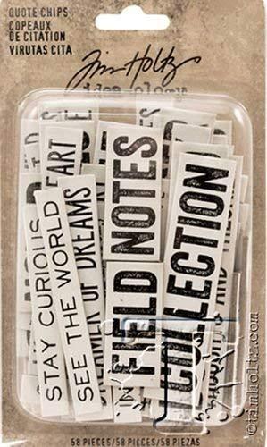 Unbekannt Tim Holtz Zitat Chips Papier Mehrfarbig 15,9/x 9,3/x 3,3/cm