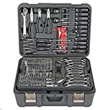 Professional 301 Piece Mechanic's Tool Kit Set - Shop Garage Vehicle Repair