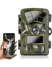 Ctronics WIFI wildcamera met bewegingsmelder, 4K 20MP, ingebouwde WiFi jachtcamera 0.2s trigger, wilddier camera infrarood nachtzicht, 120° groothoek, ondersteunt 512GB SD-kaart, IP66 waterdicht