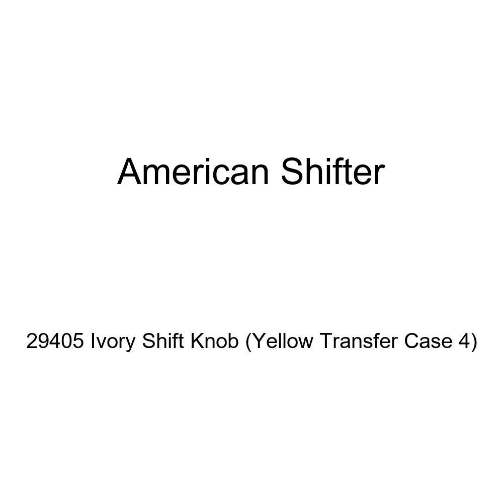 Yellow Transfer Case 4 American Shifter 29405 Ivory Shift Knob