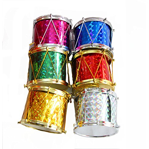Dedila 5Packs Colorful 1inch/2inch Mini Drum Hanging Ornament Pendant Christmas Tree Decoration Xmas Wedding Party Decor (2inch) (Tree 1 Christmas)