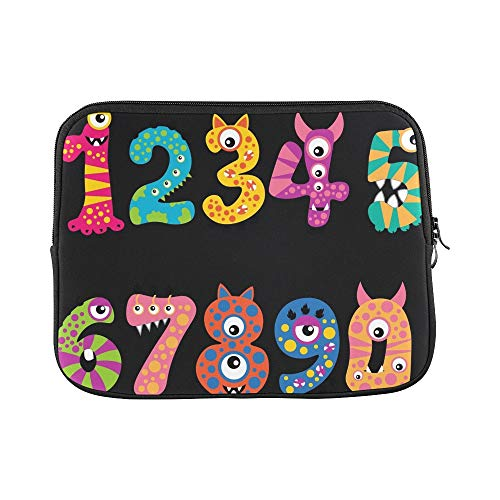 Design Custom Monster Cartoon Numbers Sleeve Soft Laptop