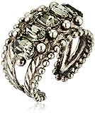 Sorrelli Core Antique Silver Tone Crystal Rock Crown Jewel Statement Adjustable Ring