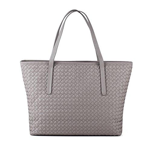 Tibes Large Tote Purse Travel Bag Women Grey