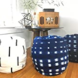 Shibori Indigo or Black and White Mudcloth Poofs / Bean Bag Chair / Ottoman - Made from African Mudcloth - Fabric from Africa