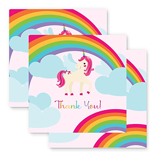 Unicorn Birthday Party Favor Tags Colorful Rainbow (25pcs.) (Bridal Tags Hang)