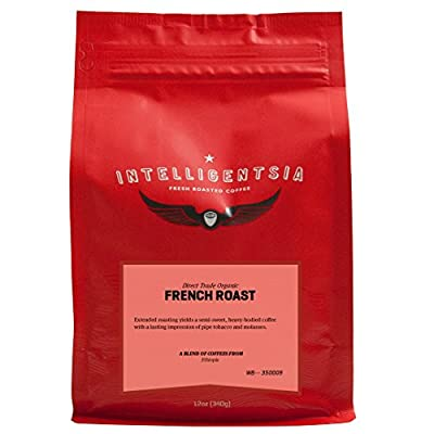 Intelligentsia Certified Organic French Roast - 12 oz - Roasted Fresh To Order, Dark Roast, Direct Trade, Whole Bean Coffee