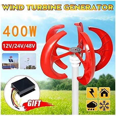 400W 12V / 24V / 48V 5 Blades Vertikale Windkraftanlagen Generator Lantern Motor Kit Elektromagnetische for Privatanwender Straßenbeleuchtung Verwendet Werden. (Voltage : 24V)