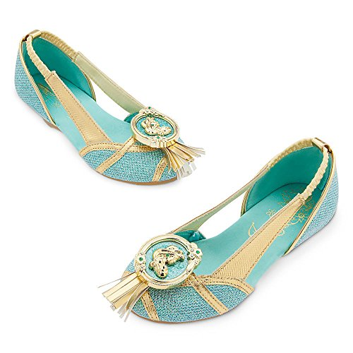 Disney Store Deluxe Jasmine Costume Shoes Heels Size 9 - 10 Princess Aladdin 2017