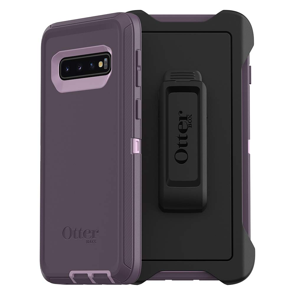 OtterBox DEFENDER SERIES Case for Galaxy S10 - Retail Packaging - PURPLE NEBULA (WINSOME ORCHID/NIGHT PURPLE)