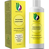 Thick and Full Hair Conditioner for Hair Loss and Thinning Anti Dandruff Itchy Flaky Scalp with Tea Tree Oil Moisturizer and Rosemary Essential Oil for Healthy Hair Growth Sulfate Free with Argan Oil