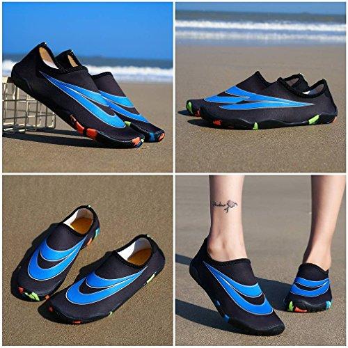 Bigood Respirant Chaussure d'eau Élastique Chausson Séchage Rapide Plage Noir l47f8RCm