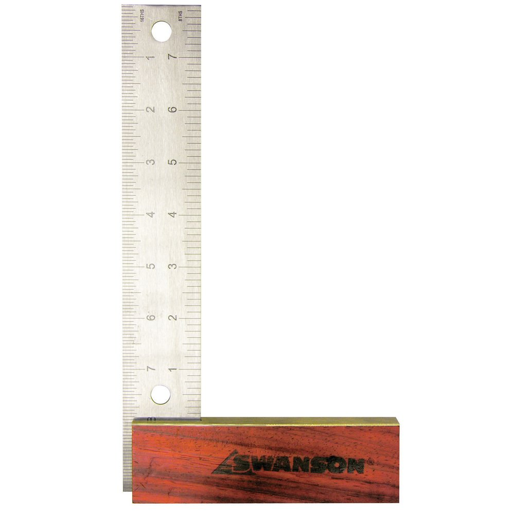 Swanson Tool TS152 8-Inch Try Square with Hardwood Handle