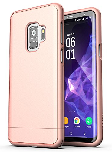 Galaxy S9 Case Rose Gold - Encased [SlimShield Series] Thin Protective Grip Phone Case for Samsung Galaxy S9 (2018 Release)