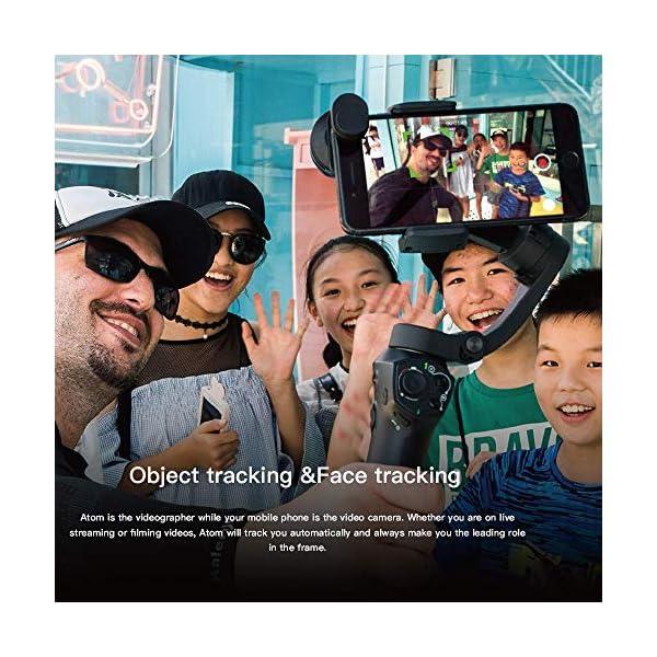 Stabilizzatore Smartphone Snoppa Atom Foldable, Gimbal Smartphone 3 Assi, per Cellulare iPhone Huawei Xiaomi Samsung etc, stabilizzatore per gopro 8 7 6 5, 310g carico utile, durata 24 ore,Pan 360° 7 spesavip