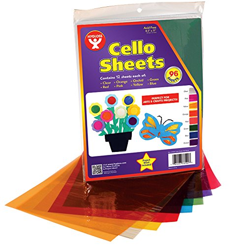 Hygloss Cello Sheets, 8.5 by 11-Inch, 96-Pack by Hygloss