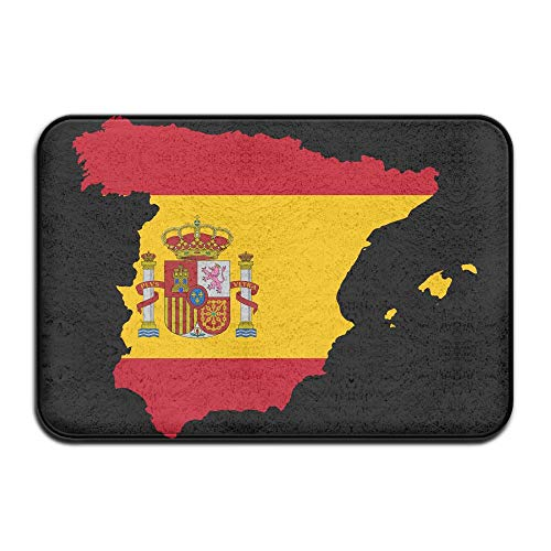 Spain Flag Map Indoor Outdoor Entrance Rug Non Slip Car Floor Mats Doormat Rugs For Home by HONMAt-Non