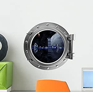 Spacecraft Space Porthole Wall Decal by Wallmonkeys Peel and Stick Decals for Boys (12 in H x 12 in W) WM313367