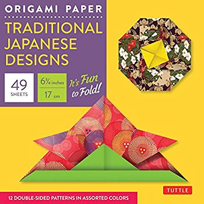 "Origami Paper - Traditional Japanese Designs - Small 6 3/4"": - 49 Sheets (Tuttle Origami Paper)"