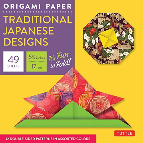 """Origami Paper - Traditional Japanese Designs - Small 6 3/4"""": Tuttle Origami Paper: 48 High-Quality Origami Sheets Printed With 12 Different Patterns: Instructions For 6 Projects Included"""