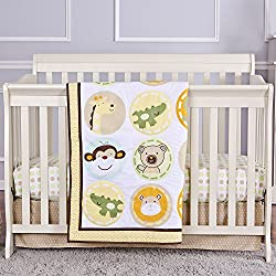 Dream On Me Animal Kingdom 3 Piece Reversible Full Size Crib Set