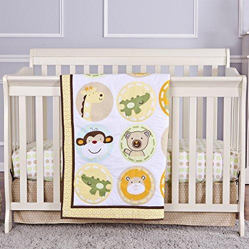 Price comparison product image Dream On Me Animal Kingdom 3 Piece Reversible Full Size Crib Set