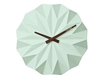 Karlsson Uhren karlsson wanduhr uhr origami keramik farbe mint grün