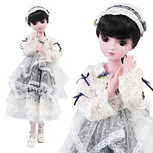UCanaan 23.6'' BJD Dolls with Clothes Outfit Shoes Wig Hair Makeup 19 Ball Joints SD Dolls for Girls Gift and Dolls -