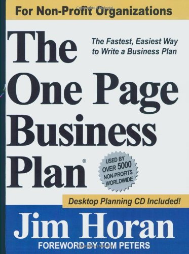 The One Page Business Plan for Non-Profit Organizations by Brand: The One Page Business Plan Company (Image #2)