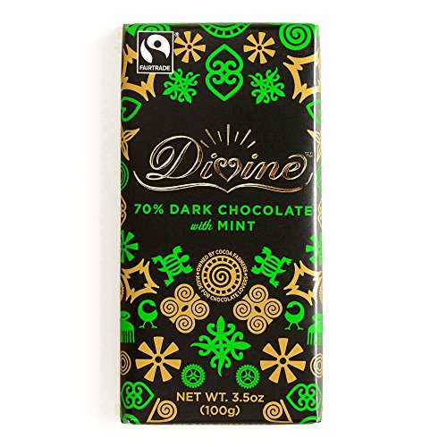 Divine 70% Mint Dark Chocolate 3.5 oz each (1 Item Per Order)