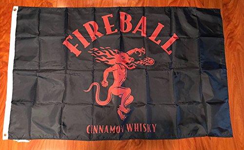 Fireball 3'x5′ Flag Banner Cinnamon Whiskey Man Cave Sign Wall Decor Bar