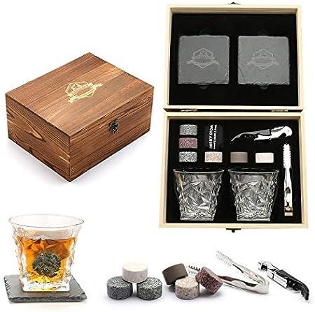 🍎ART ARTE DE MADERA: La caja de madera que almacenaba el set de regalo de piedras y vasos de whisky