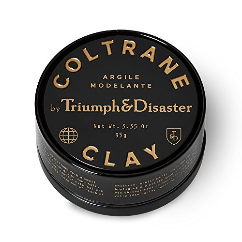 Triumph & Disaster Coltrane Clay 3.35oz – Designer Matte Medium Hold Conditioning Hair Styling Clay made with Natural White Clay Beeswax and Pracaxi - Designer Clay