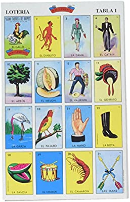 picture relating to Printable Loteria Mexicana named Wear Clemente Autentica Loteria Mexican Bingo Fastened 20 Capsules Vibrant and Useful