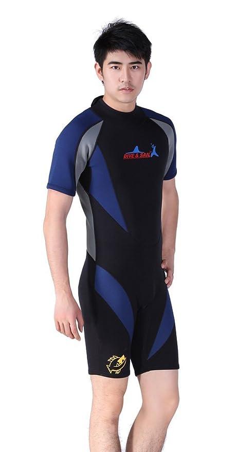 Dive & Sail 1,5 mm de neopreno de manga corta traje de buceo ...