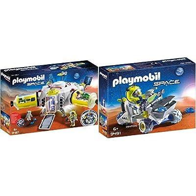 PLAYMOBIL 9487 Spielzeug-Mars-Station & 9491 Spielzeug-Mars-Trike: Toys & Games